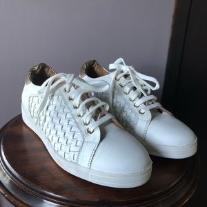 Carvela White and gold sneakers size 39